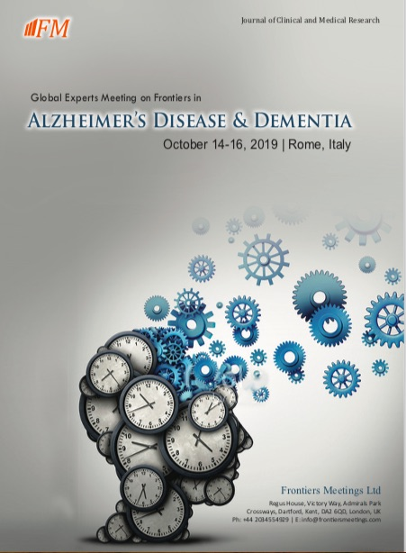 Global Experts meeting on Frontiers in Alzheimer's Disease & Dementia, October 14-16, Rome, Italy