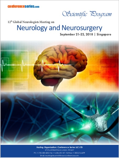 12th Global Neurologists Meeting on Neurology and Neurosurgery, Singapore 2018