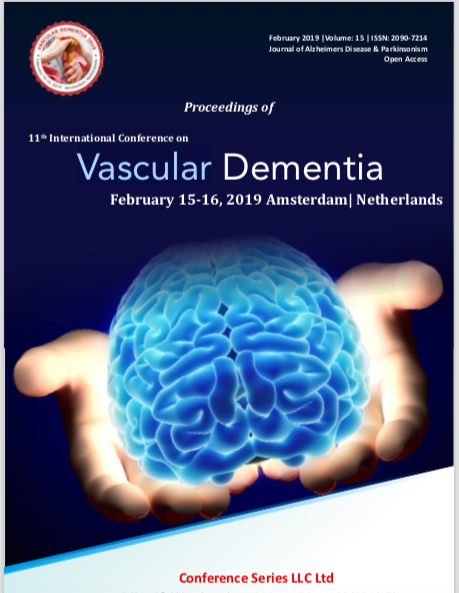 Invited as Plenary Speaker at 11th International Conference on Vascular Dementia, Amsterdam 2019